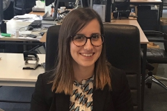 Our fifth fellow Giulia Bedini started her fellowship early March 2019. Here she is pictured in the MLex newsroom on her day 1.