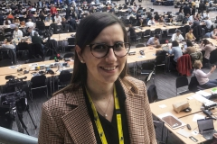 Our fifth fellow Giulia was all smiles at her first EU summit.