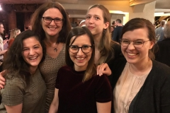 Our fellows Eline, Maria, Zosia and Giulia met with Trade Commissioner Cecilia Malmström at the Press Revue event 2019.