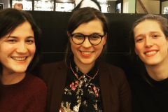 Maria, Zosia and Eline at a joint dinner in Brussels in 2019.