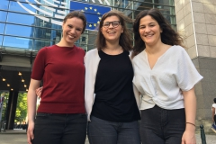The Lénaïc Fund fellows Judith, Zosia and Maria (from left to right) had a great time while being in Brussels.